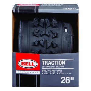 Bell Sports  Traction  26 in. Rubber  26 x 1.75 - 2.25  Bicycle Tire  1 pk