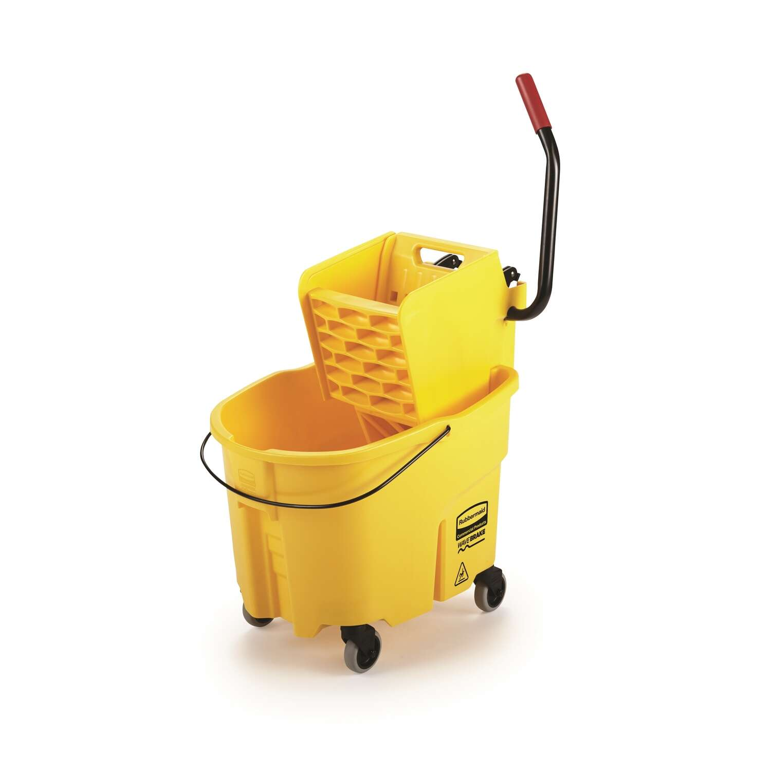 Rubbermaid Commercial WaveBrake 2.0 35 qt. Mop Bucket Yellow