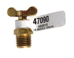 JMF MPT in. Brass Needle Drain Valve