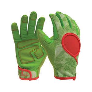 Digz  Signature  Green  Women's  M  Synthetic Leather  Gardening Gloves