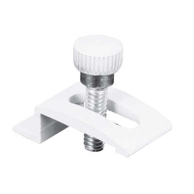 Prime-Line White Aluminum Storm Door Clip For 1/4 inch 8 pk