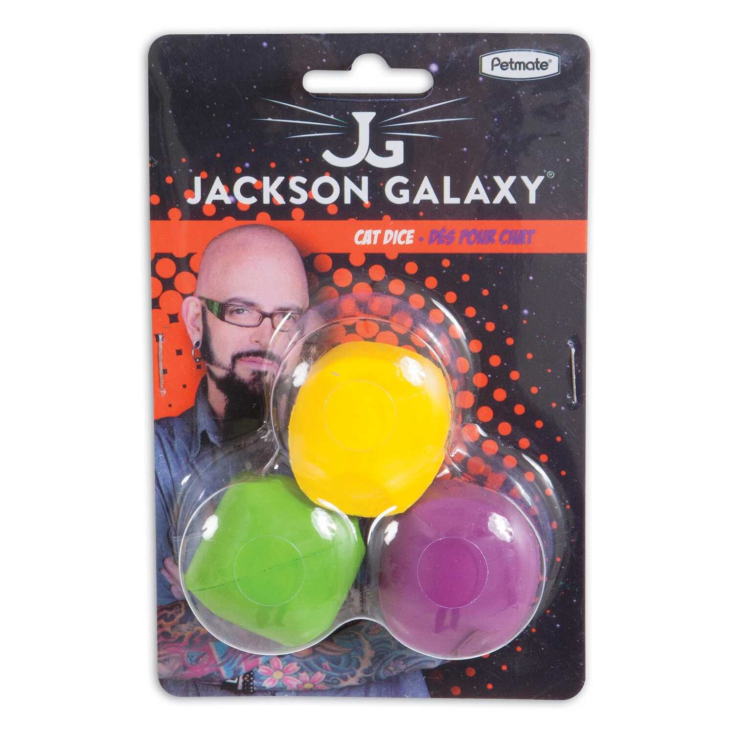 Jackson Galaxy  Assorted  Dice  Foam  Cat Toy  Small