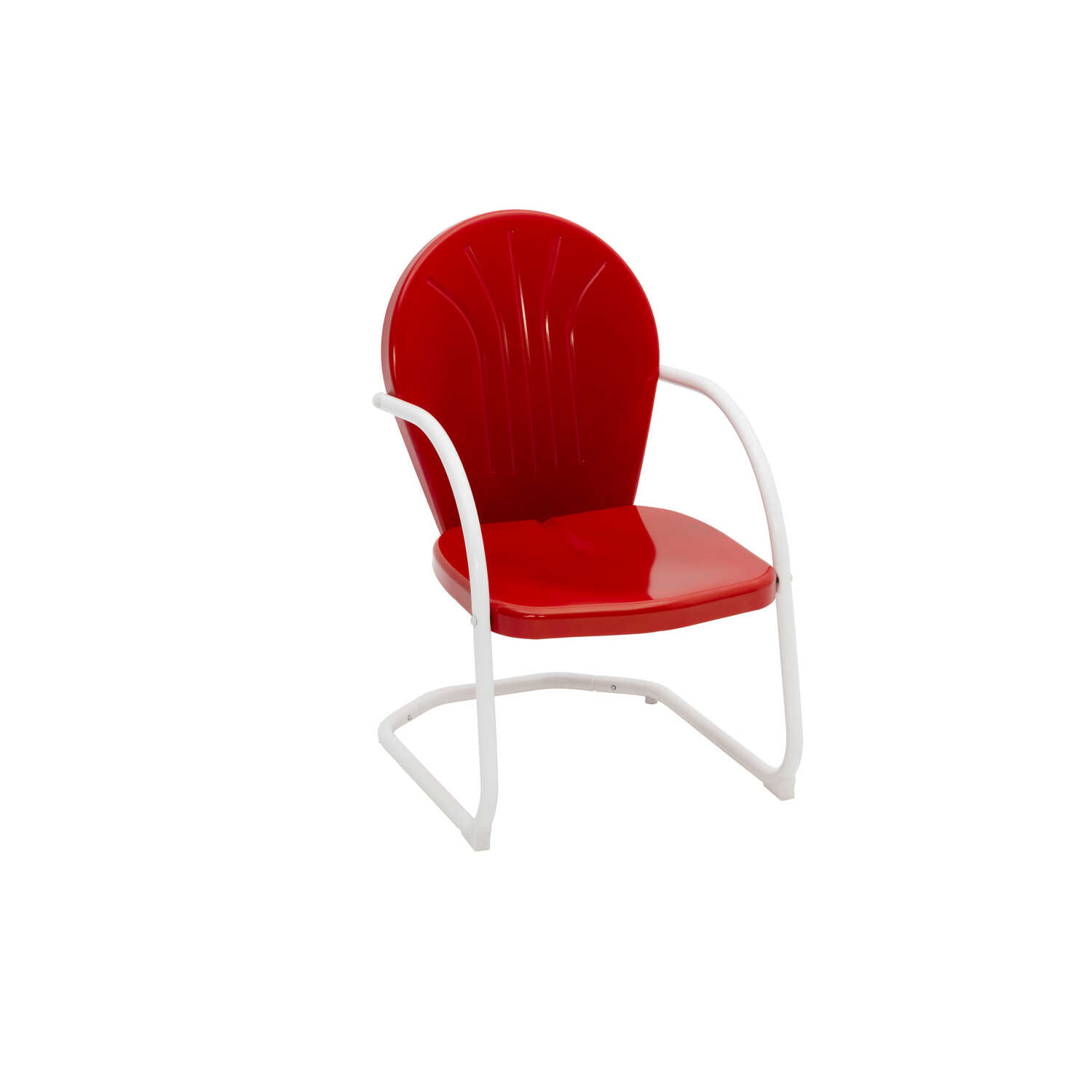 Jack Post  Red  Steel  Retro  Chair