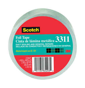 Scotch  2 in. W x 50 yd. L Tape  Silver