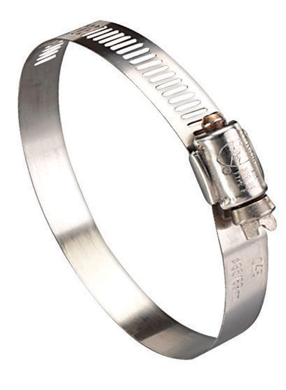 Ideal  Hy Gear  1-1/4 in. to 3-1/4 in. SAE 44  Silver  Hose Clamp  Stainless Steel  Band
