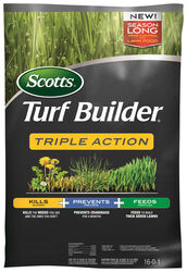 Scotts Turf Builder Triple Action Weed & Feed 16-0-1 Lawn Food 10000 sq. ft. For Multiple Grass