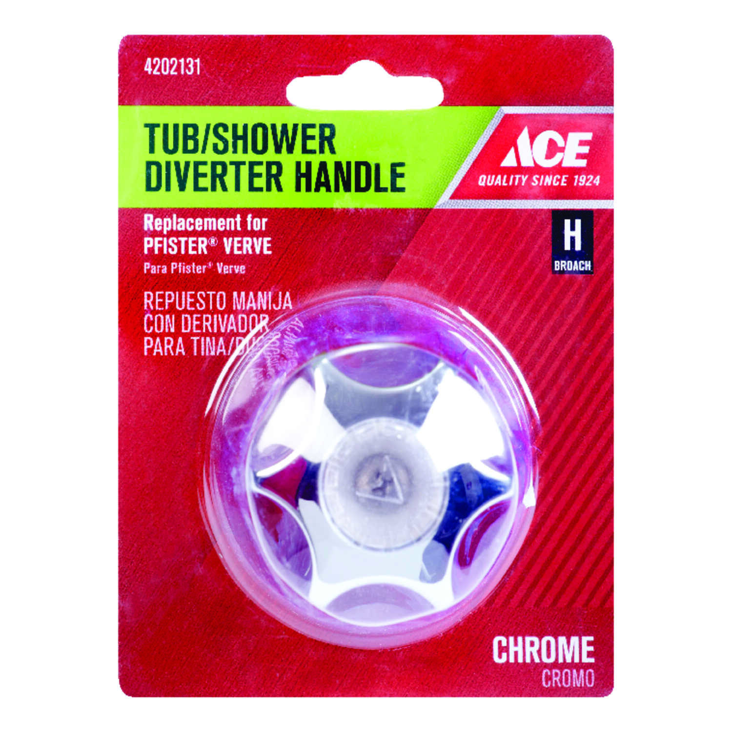 Ace  Verve  Chrome  Chrome  Tub and Shower  Diverter Handle