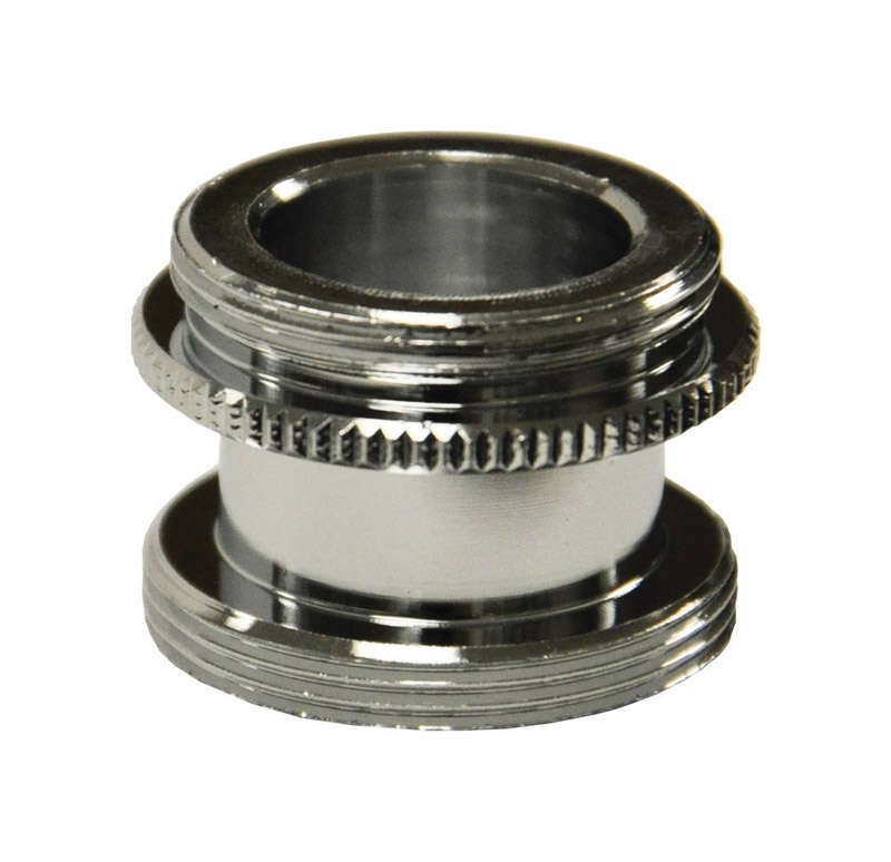 Danco Male Thread 15/16 in.-27M x 55/64 in.-27M Chrome Aerator Adapter