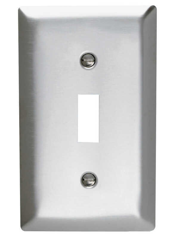 Pass & Seymour  Silver  1 gang Stainless Steel  Wall Plate  1 pk Toggle