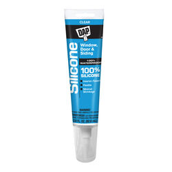 DAP  Clear  Silicone  Door, Siding and Window  Sealant  2.8 oz.