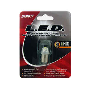Dorcy  LED  Flashlight Bulb  2.25 volt Bayonet Base