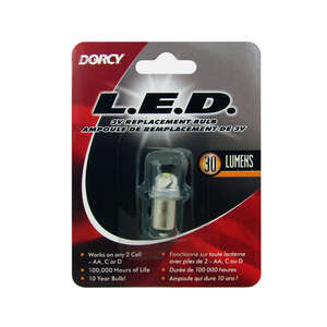 Dorcy  LED  Flashlight Bulb  Bayonet Base  2.25 volts