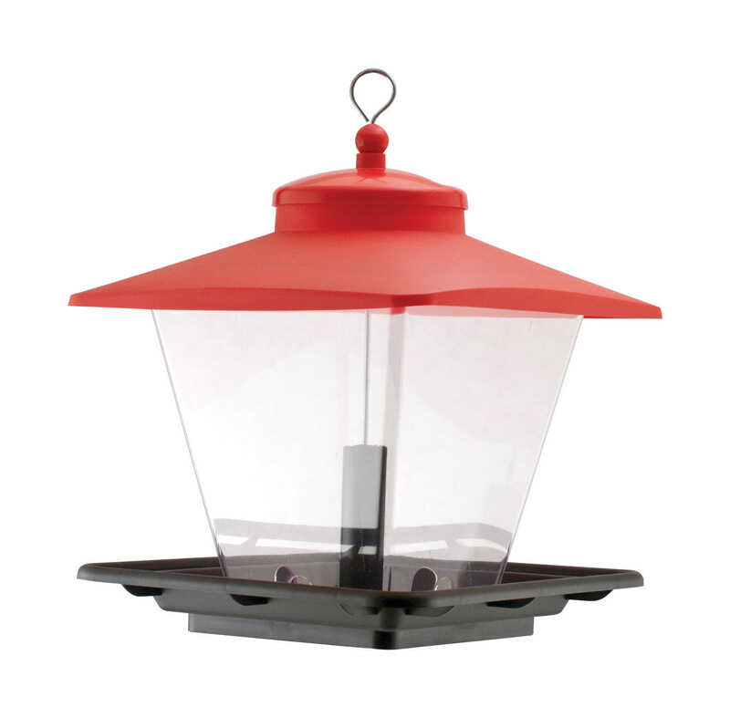 Audubon  Woodlink  Wild Bird  7  Plastic  Hopper  Bird Feeder  4 ports