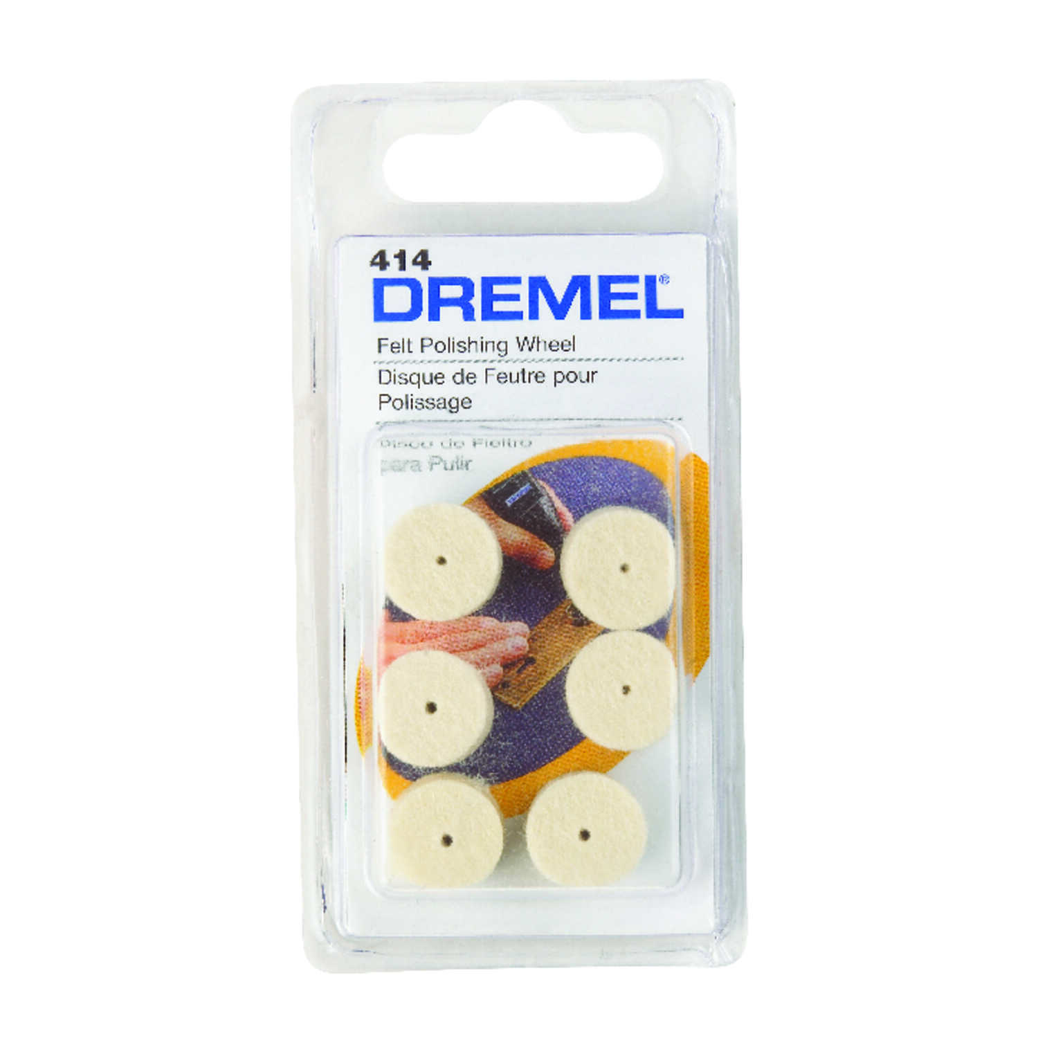 Dremel  1/2 in   x 1/2 in. L x 1/2 in. Dia. Felt Cloth  Felt Polishing Wheel  6 pk