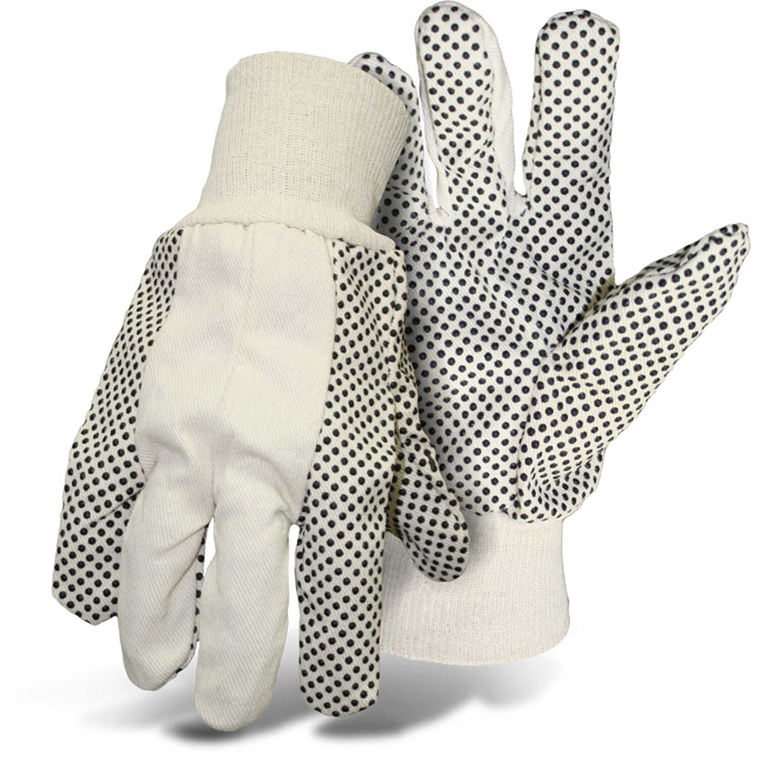 Boss  Men's  Indoor/Outdoor  Cotton/Polyester  Dotted  Work Gloves  White  L