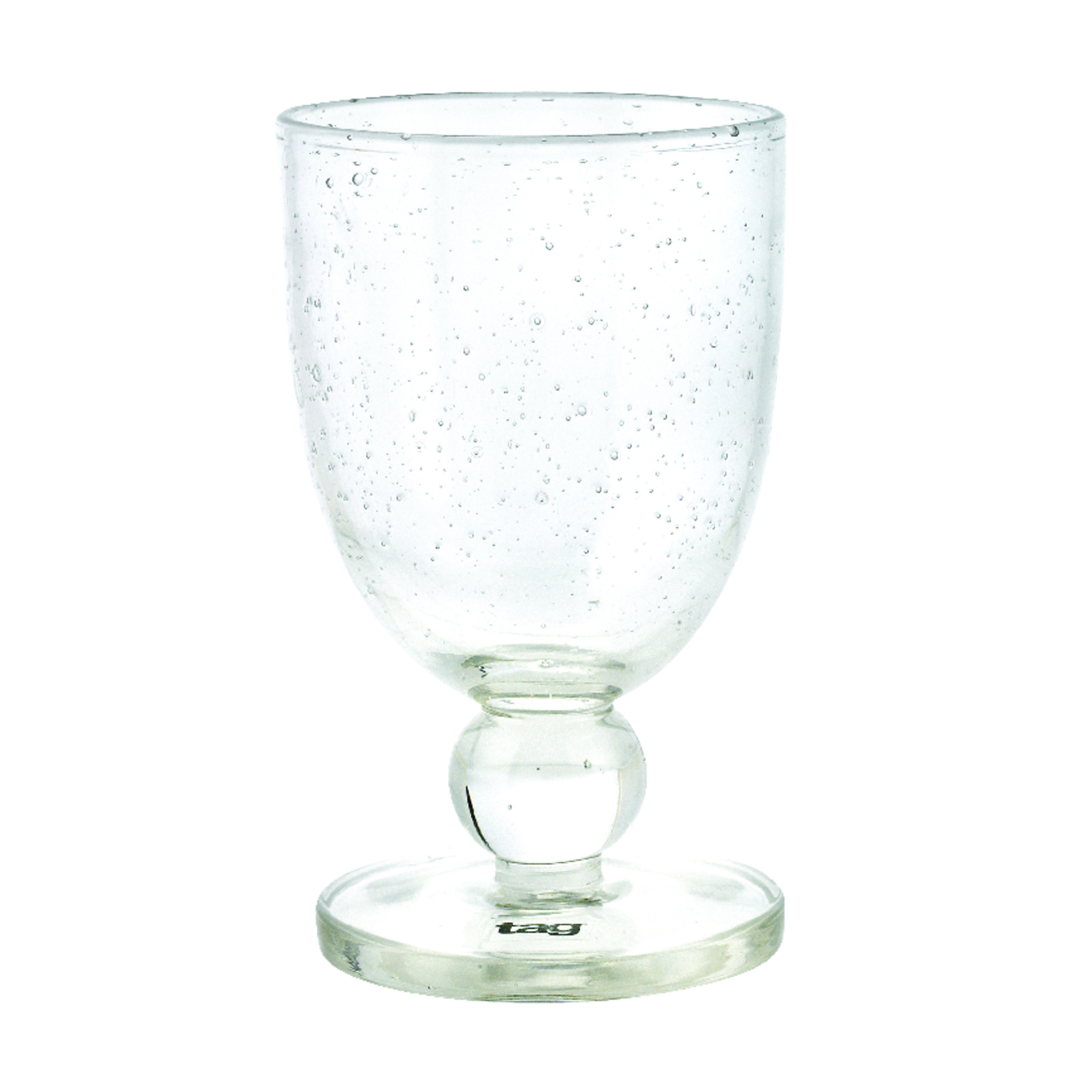 Tag  Clear  Glass  Bubble Glass  Goblet  1 pk