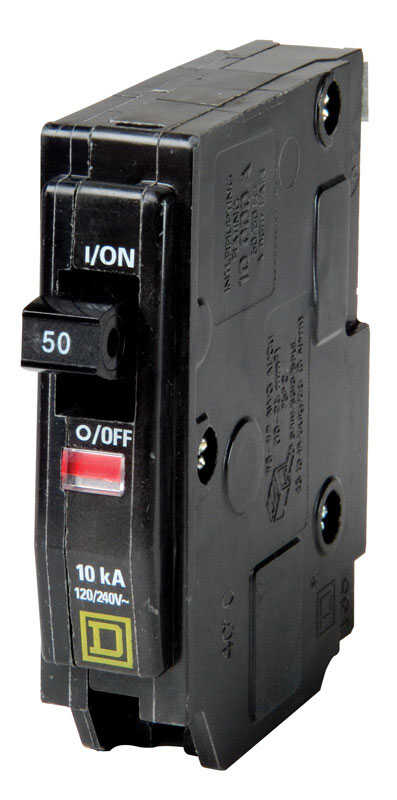 Square D  QO  50 amps Plug In  Single Pole  Circuit Breaker