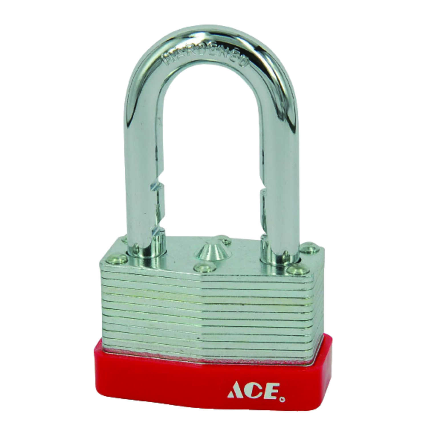 Ace  1.063 in. H x 1-3/4 in. W x 15/16 in. L Steel  Warded Locking  Padlock  1 pk