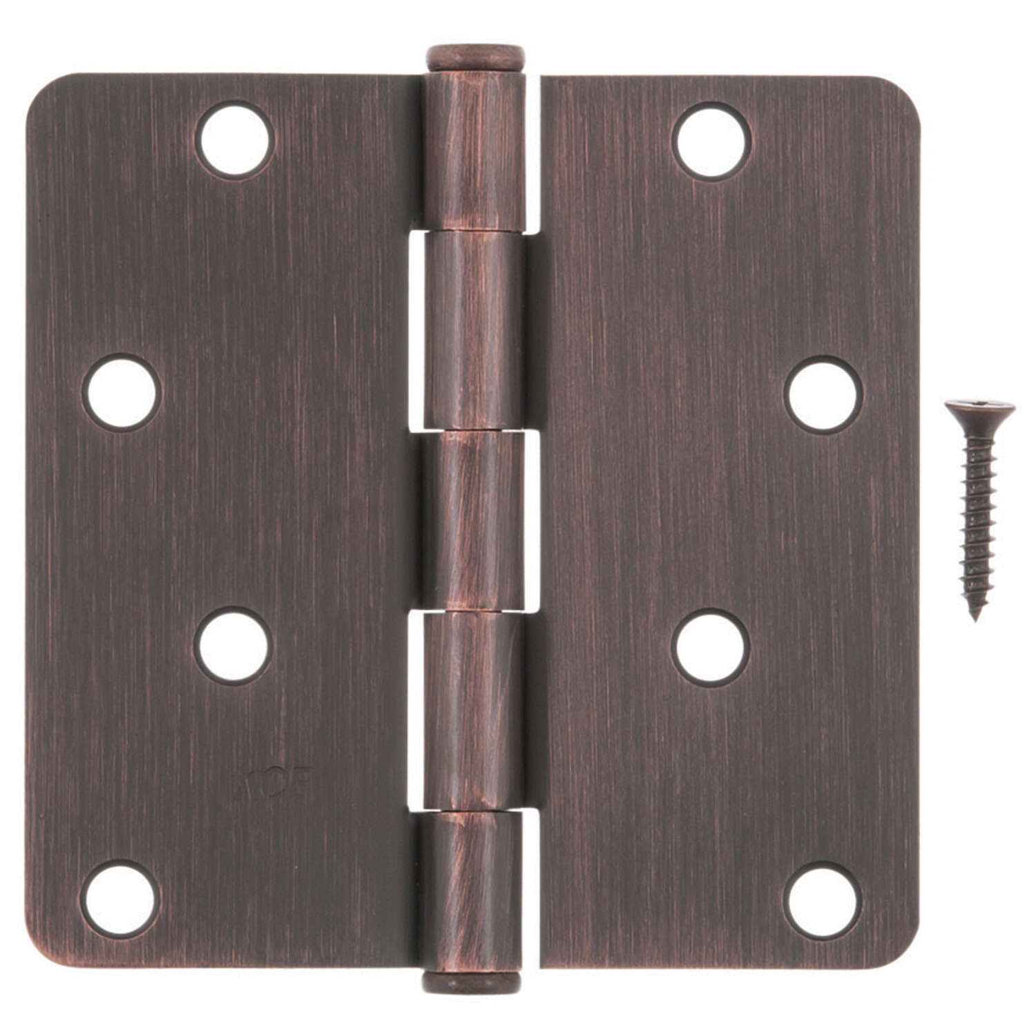 Ace  4 in. L Oil Rubbed Bronze  Residential Door Hinge  3 pk