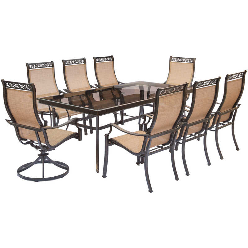 Hanover  9 pc. Bronze  Aluminum  Patio Set