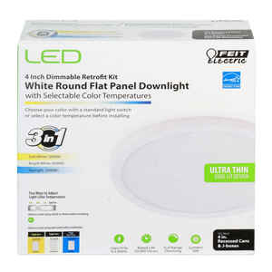 FEIT Electric  White  4 in. W LED  Retrofit Downlight Kit  6.5 watts