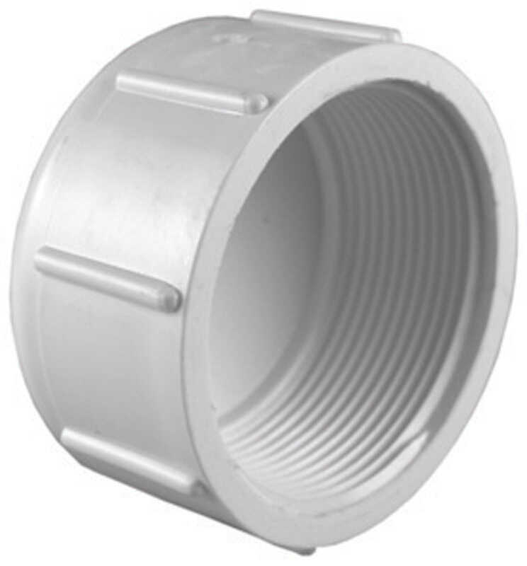 Charlotte Pipe  Schedule 40  1-1/2 in. FPT   x 1-1/2 in. Dia. FPT  PVC  Cap