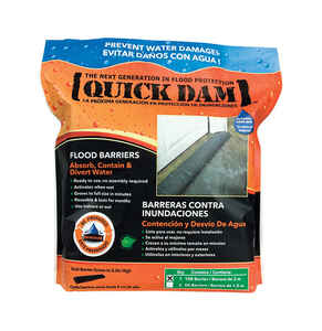 Quick Dam  3.5 in. H x 10 ft. L Flood Barrier  1 pk