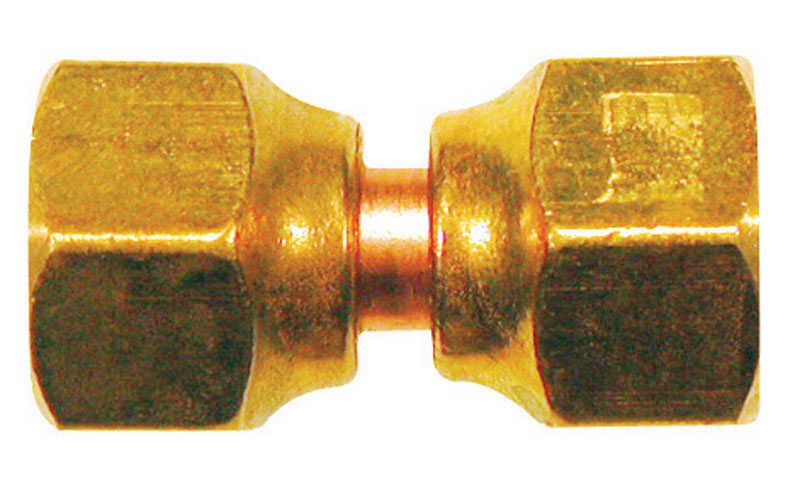 JMF  5/8 in. 5/8 in. Dia. Brass  Swivel Flare Connector