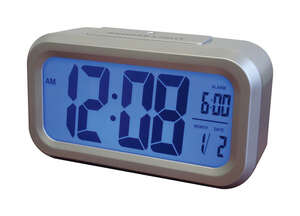 Westclox  5.3 in. Alarm Clock  Digital  Silver