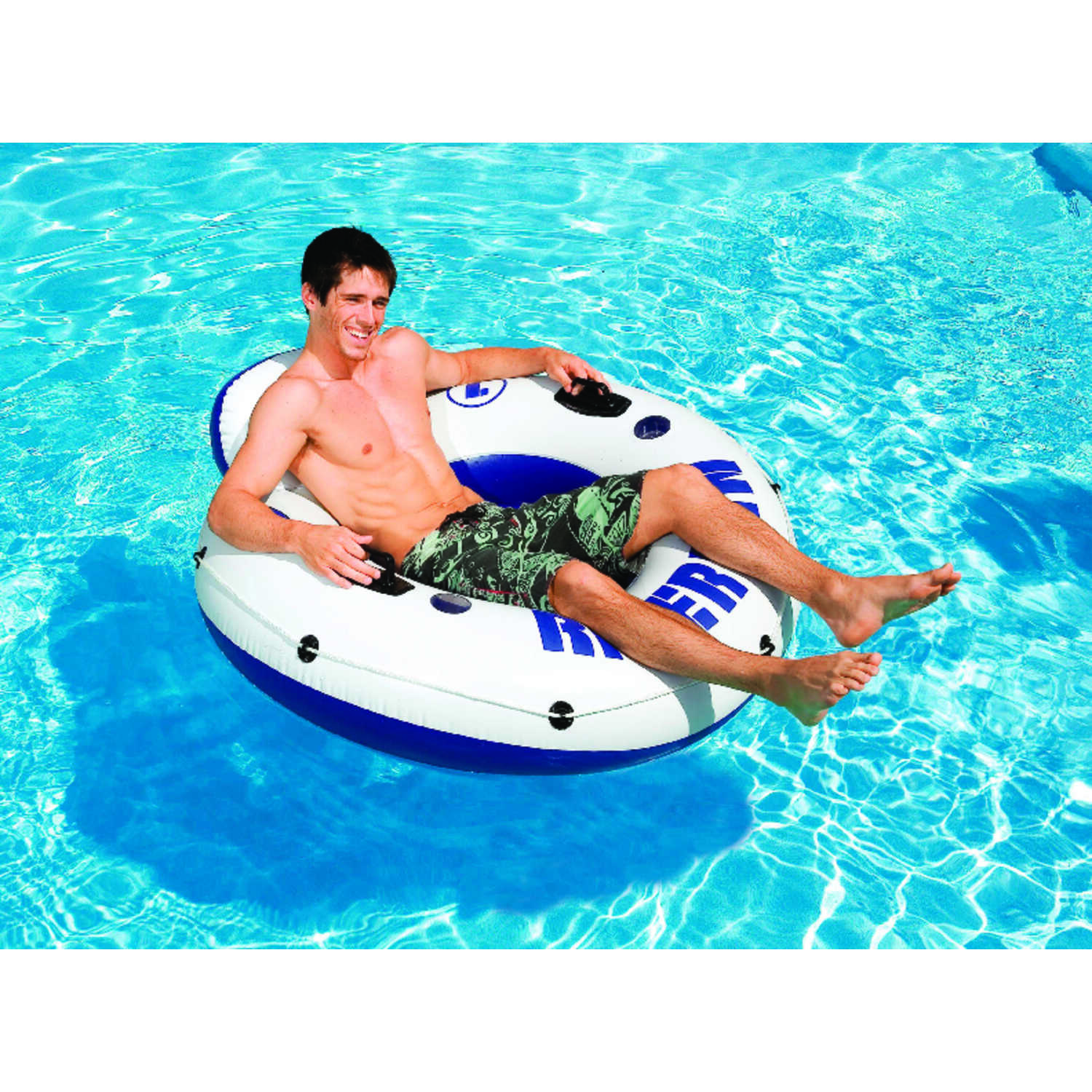 Intex  Blue/White  Vinyl  Inflatable Floating Tube