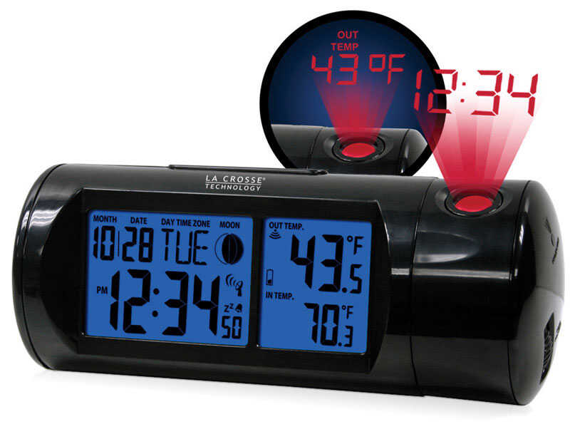 La Crosse Technology  Black  Alarm Clock  Digital  Plug-In  7.1 in.