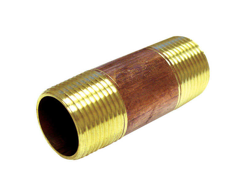 Ace  3/8 in. MPT   x 3/8 in. Dia. MPT  Threaded  Brass  Pipe Nipple