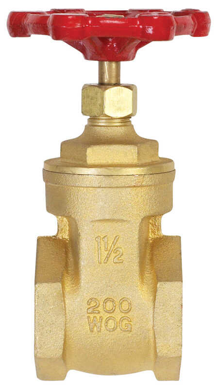 B & K  1-1/2 in. Dia. x 1-1/2 in. Dia. Brass  Gate Valve