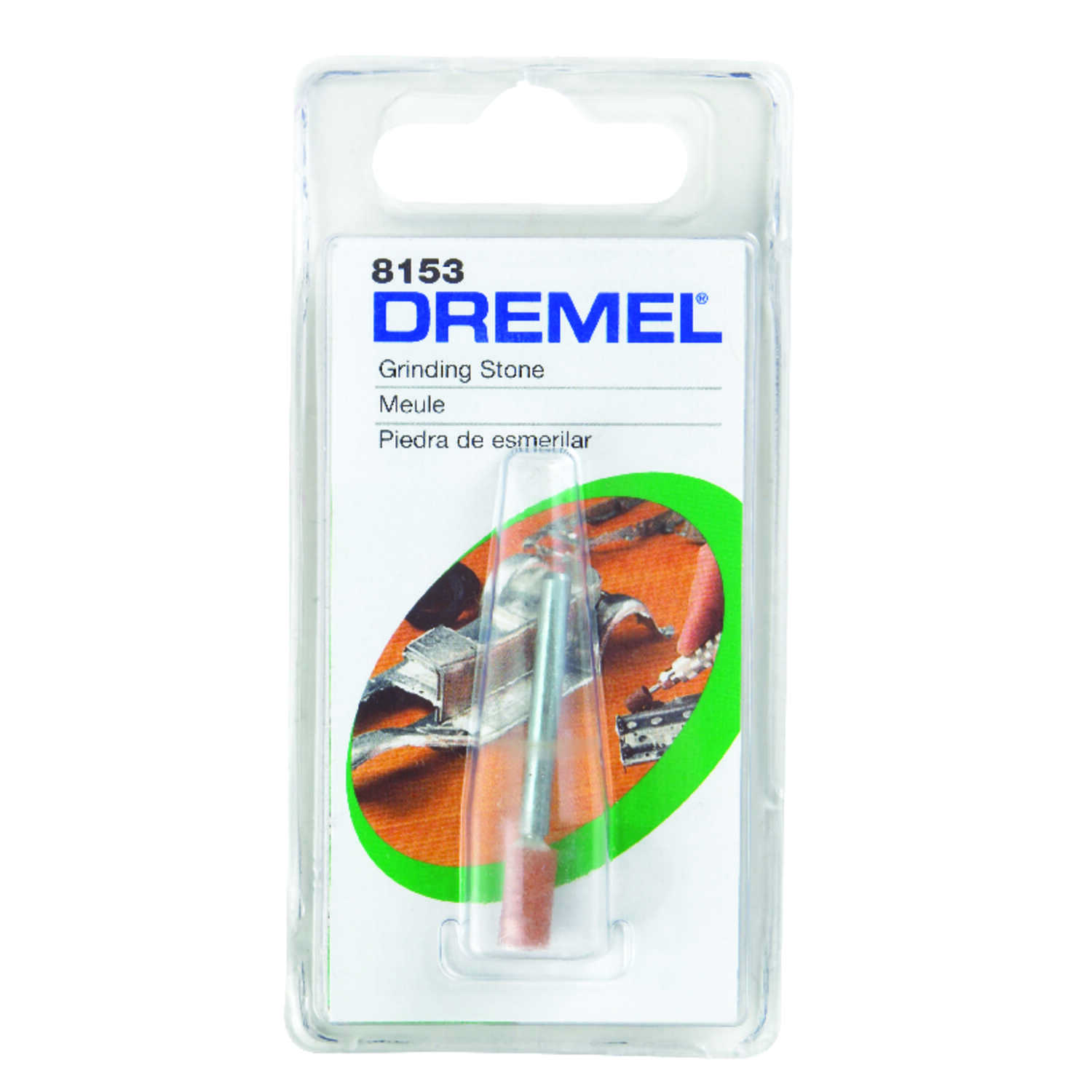 Dremel  3/16 in. L x 1/4 in. Dia. Grinding Stone  Cylinder  35000 rpm 1 pc. Aluminum Oxide