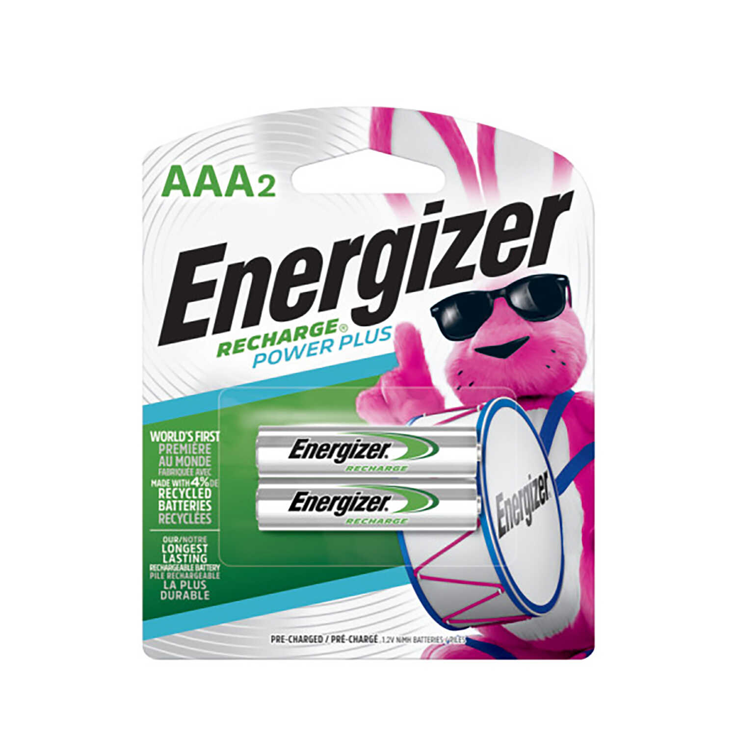 Energizer  NiMH  AAA  1.2 volt Rechargeable Batteries  NH35BP-2  2 pk