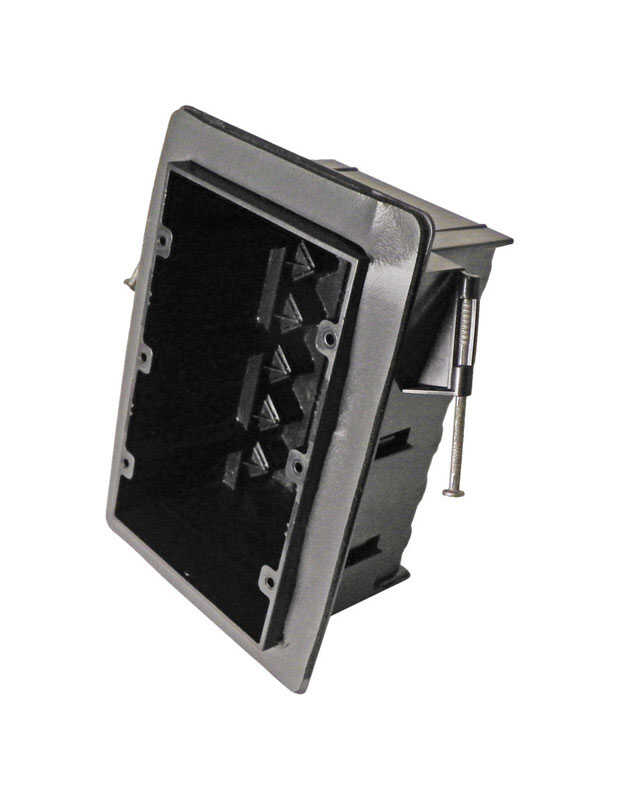 Cantex  3-1/4 in. Rectangle  PVC  3 gang Junction Box  Gray