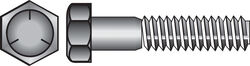 Hillman  7/16 in. Dia. x 1 in. L Heat Treated Zinc  Steel  Hex Head Cap Screw  50 pk