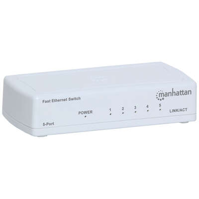 Manhattan  Fast Ethernet Office Switch-5 Port