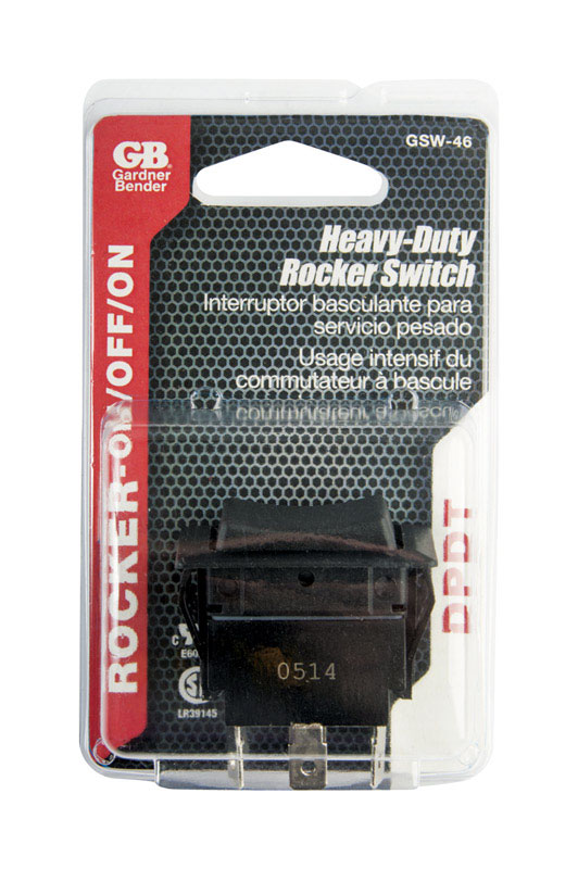 Gardner Bender  Switch  5 pk Black  Rocker