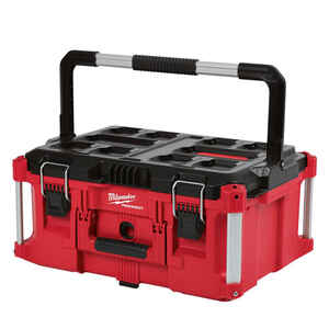 Milwaukee  PACKOUT  16.14 in. W x 11.3 in. H Impact-Resistant Poly  Large  Tool Box  Red  Black/Red