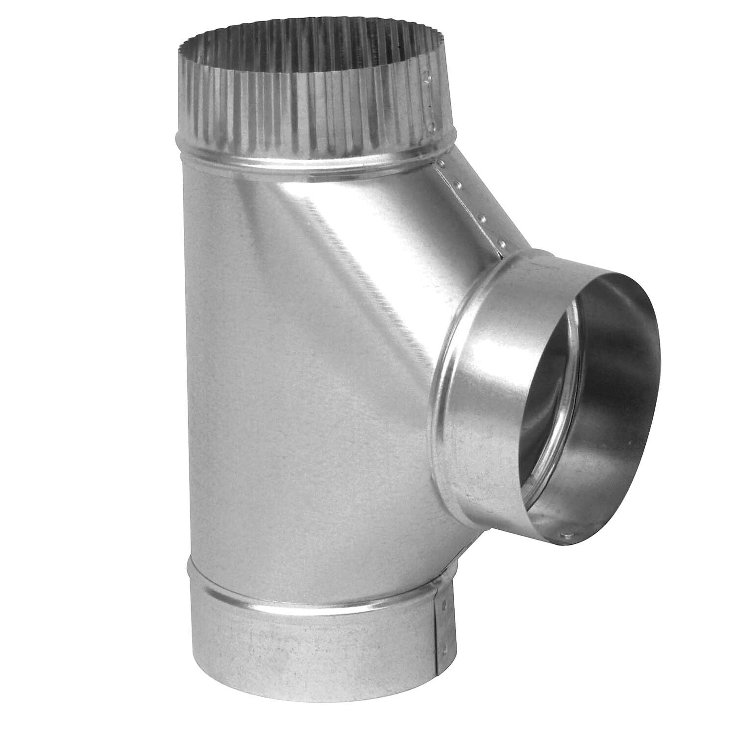 Imperial  4 in.  x 4 in.  x 4 in.  Galvanized Steel  Furnace Pipe Tee