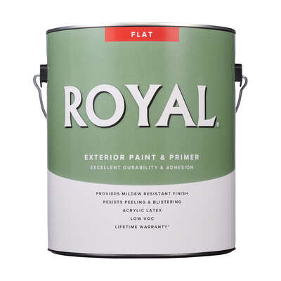 Royal Flat Tint Base Ultra White Base Paint Exterior 1 gal.