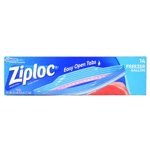 Ziploc  Freezer Bag  14 pk Clear