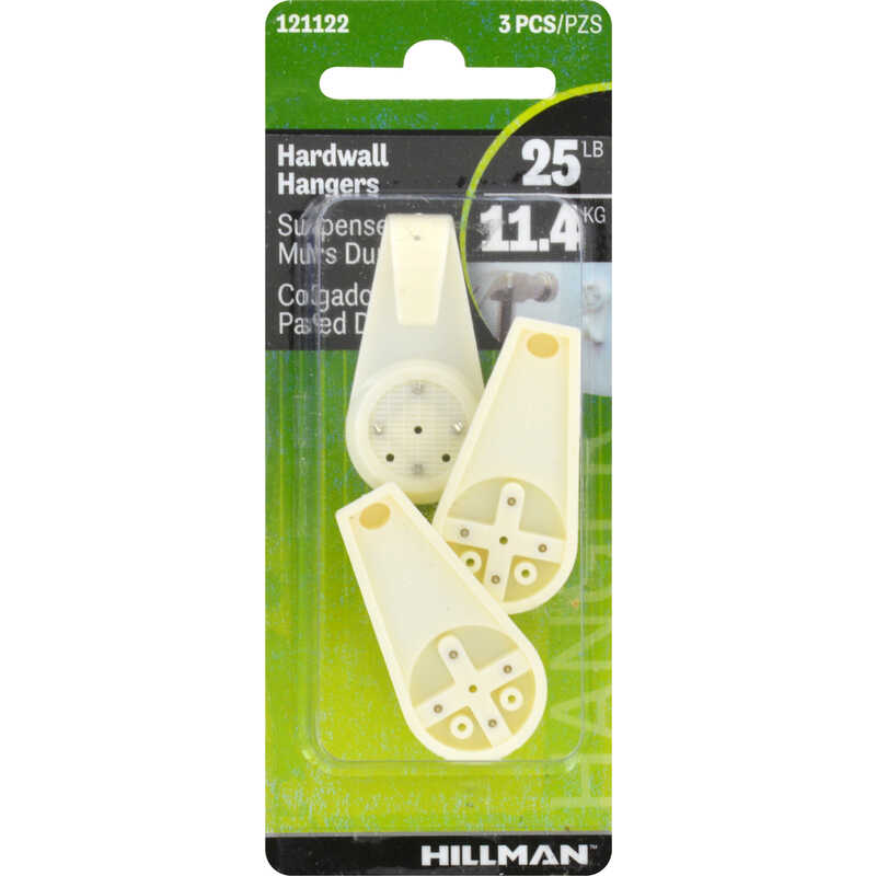 HILLMAN  AnchorWire  Plastic Coated  Hardwall  Picture Hook  25 lb. 3 pk Nylon