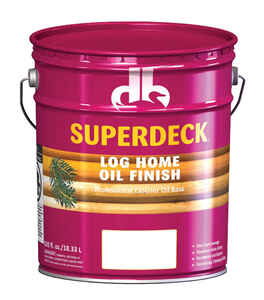 Superdeck  Transparent  Tintable Flat  Amber Hue  Tint Base  Penetrating Oil  Log Home Finish  5 gal
