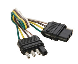 Hopkins  4 Flat  Trailer Wiring Extension  12 in.