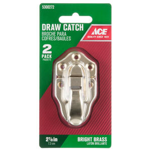 Ace  Bright Brass  Decorative Drawer Catch  2 pk