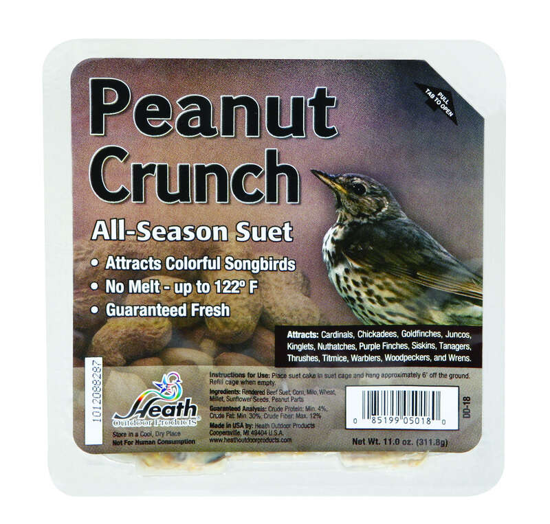 Heath  Peanut Crunch  Songbird  Suet  Beef Suet  11 oz.