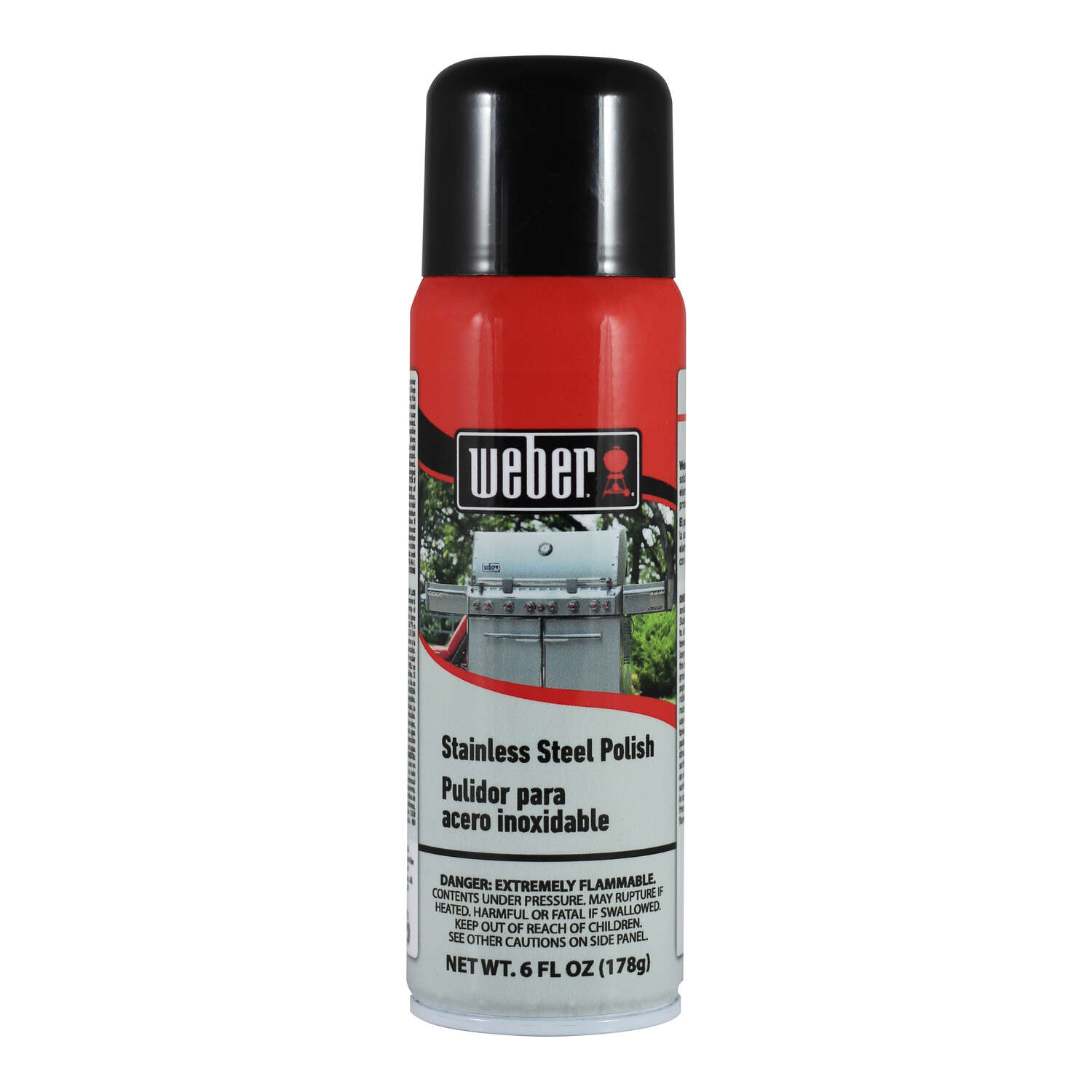 Weber  No Scent Stainless Steel Cleaner  6 oz. Spray