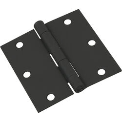 National Hardware  3-1/2 in. L Black  Door Hinge  1 pk